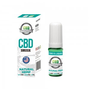 CANNAPRESSO CBD E 1000MG السائل النفط CBD 10ML VAPE