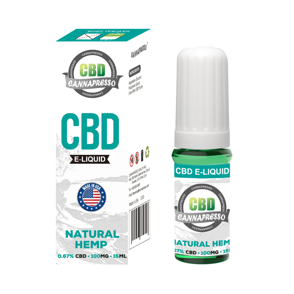 CANNAPRESSO CBD E liquid-100mg CBD 15ml vape oil Featured Image