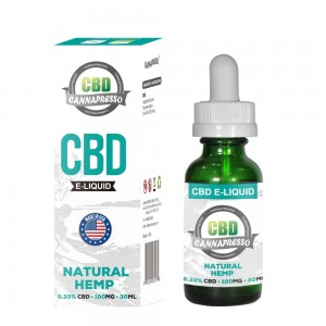 CANNAPRESSO CBD E течност 100 mg CBD 30ml vape масло