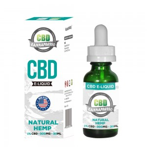 CANNAPRESSO CBD E liquid-300mg CBD 30ml vape oil