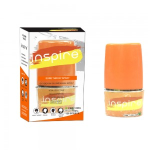 Inspire sore throat CBD spray