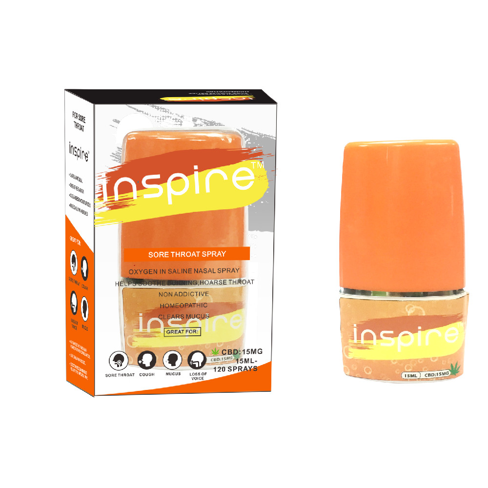 Inspire sore throat CBD spray Featured Image