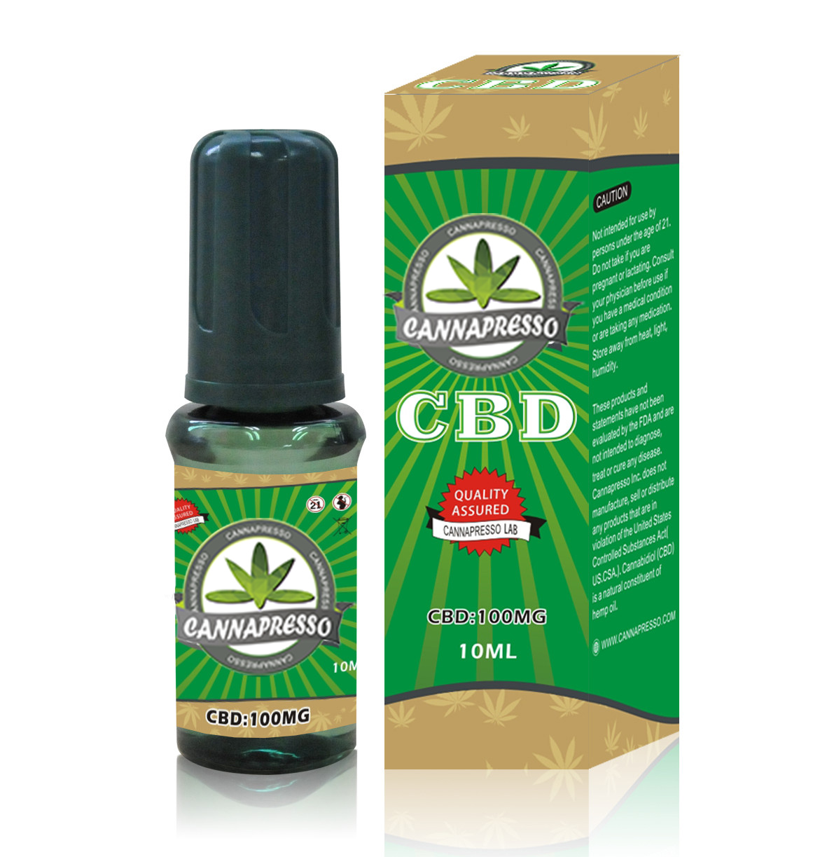 CANNAPRESSO CBD E liquid-100mg CBD 10ml vape oil Featured Image