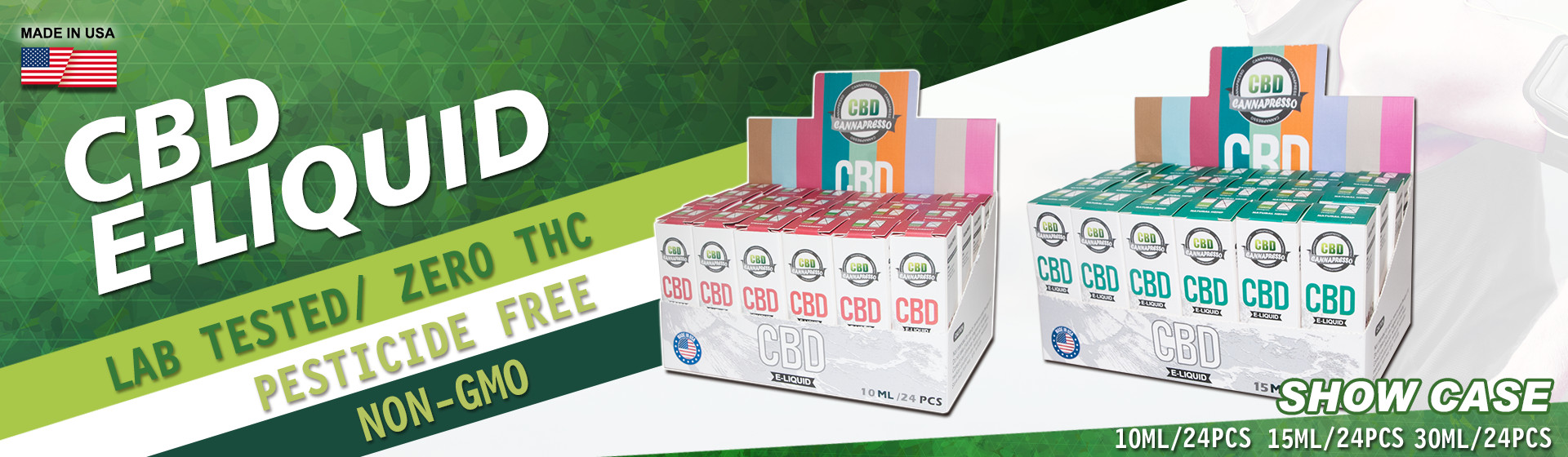 CBD eliquid with 24pcs package
