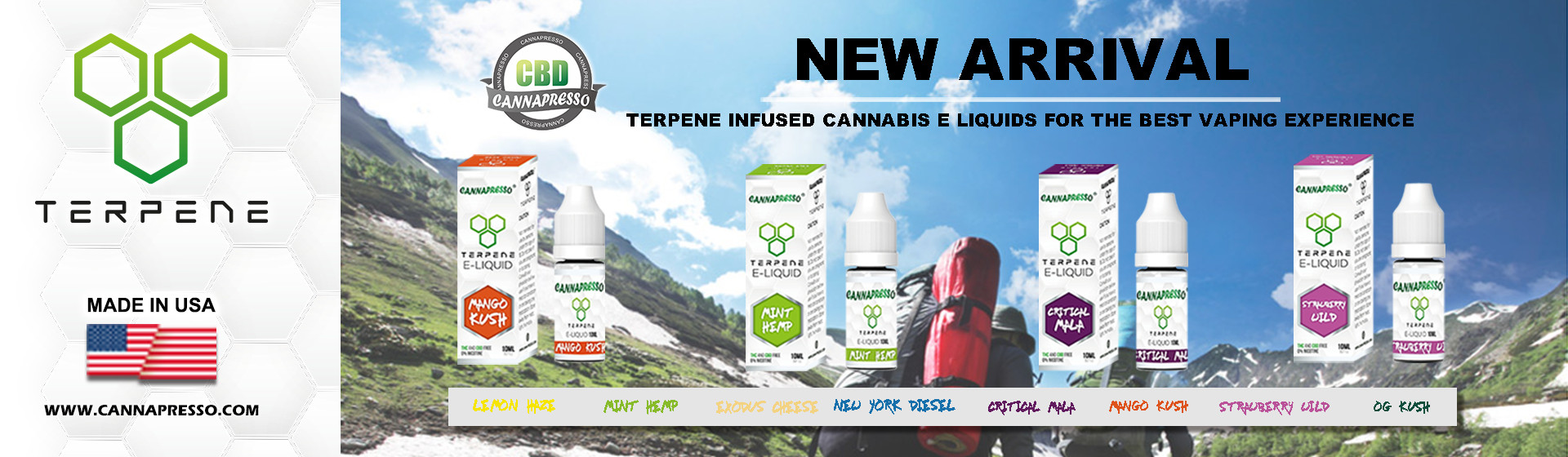 Cannapresso 0mg CBD terpene eliquid