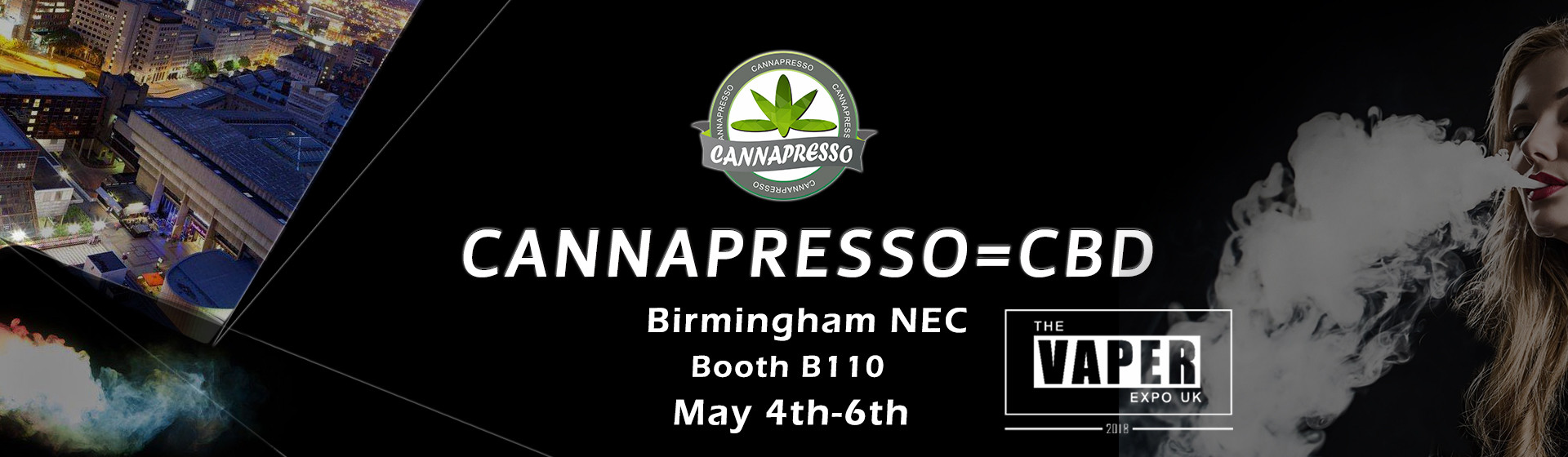 Cannapresso CBD the vaper expo UK