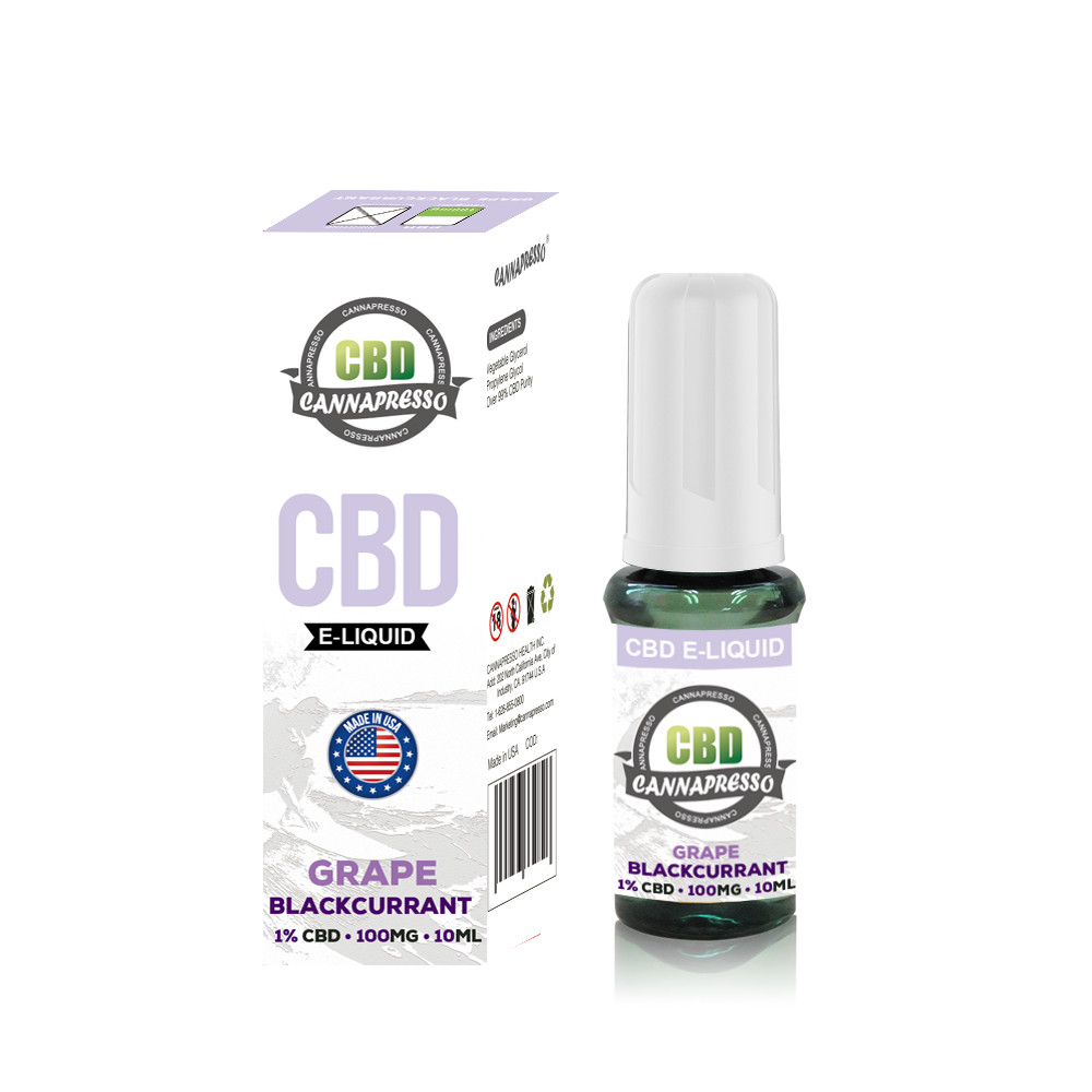 CANNAPRESSO CBD E liquid 100mg CBD 10ml vape oil