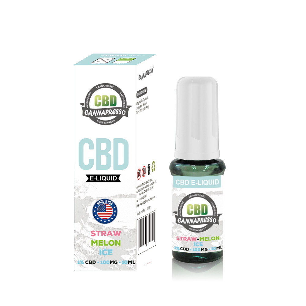 CANNAPRESSO CBD E liquid 100mg CBD 10ml vape oil Featured Image