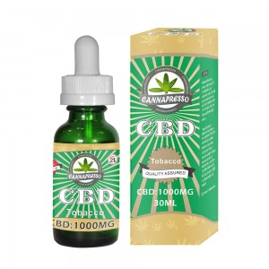 CANNAPRESSO CBD e-liquid 1000mg 30ml tobacco vape oil