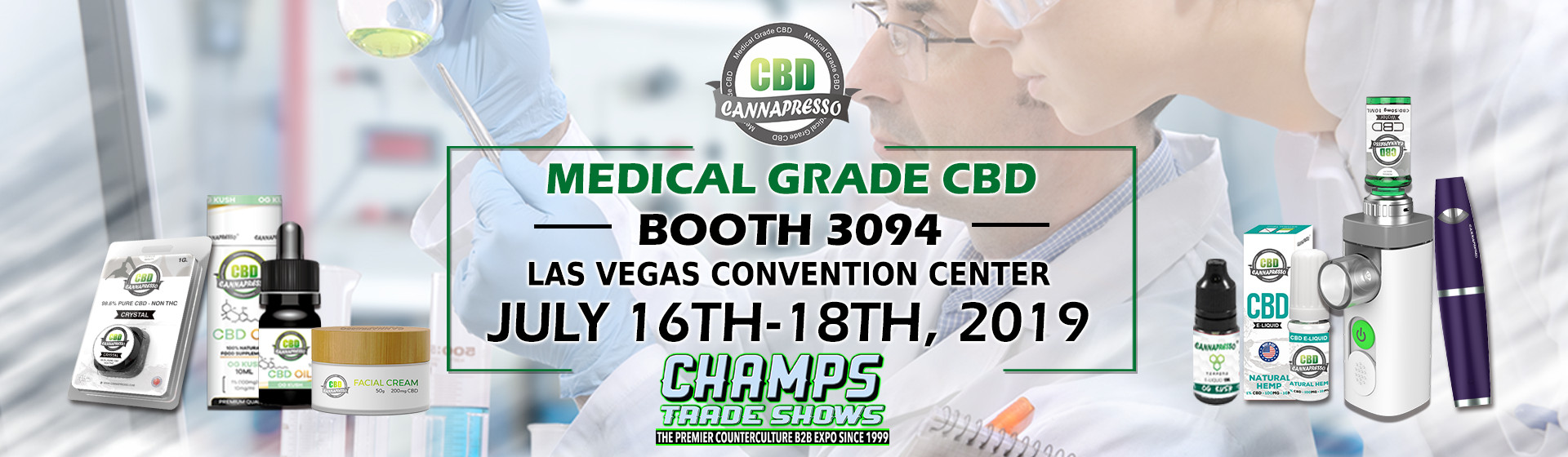 champs trade show 2019 cannapresso cbd