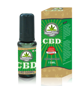 CANNAPRESSO CBD E liquid-500mg CBD 15ml vape oil