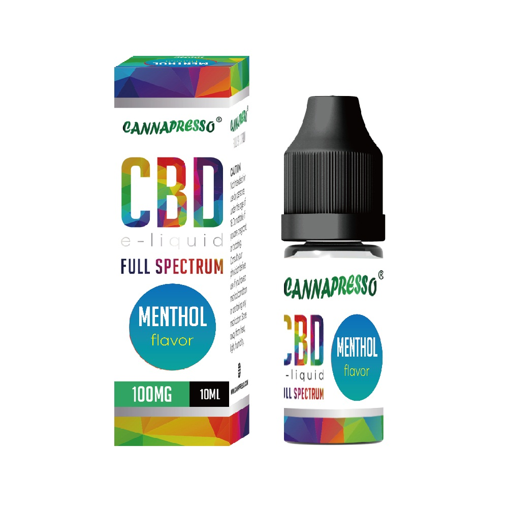 10ml Menthol full spectrum CBD e-liquid Featured Image