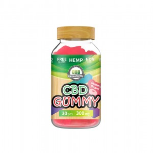 Strawberry 300mg CBD gummy