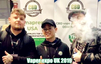 the vaper expo UK 2019 cannapresso CBD vape juice