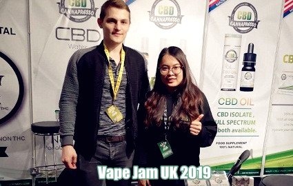 vape jam UK 2019 cannapresso cbd tincture terpene